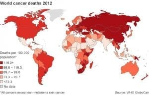 cancer deaths worldwide