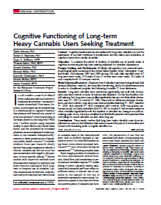 Report detailing the cognitive function
